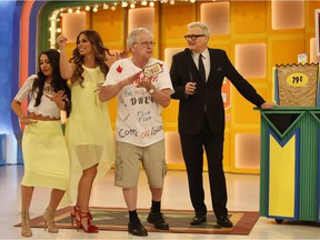 Saskatoon's Chris Ooms (second from right) appeared on the May 25, 2016 of long-running game show The Price Is Right. He was joined in the episode by host Drew Carrey and former contestants on The Amazing Race Tiffany Chantell Torres and Krista DeBono (left).