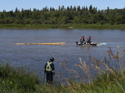 Workers are on site at the Prince Albert water treatment plant preparing for the 30-kilometre waterline that will bring water from the South Saskatchewan River on July 25, 2016.