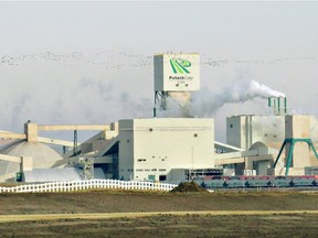 Potash Corp. of Saskatchewan Inc.'s Cory mine west of Saskatoon. The potash company is in talks with Calgary-based Agrium Inc. about the possibility of a merger.