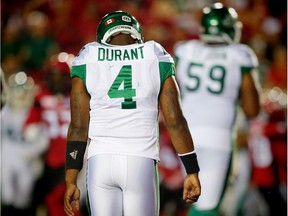 It was a disappointing night for Darian Durant and the Saskatchewan Roughriders as they lost 35-15 to the host Calgary Stampeders on Thursday.