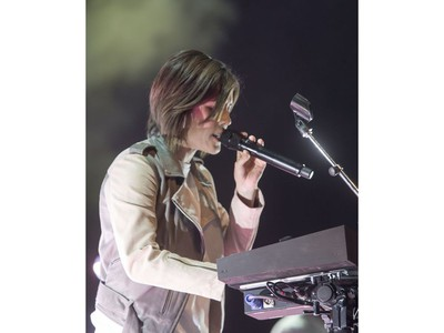 Tegan and Sara perform the first show of the band's Love You To Death North American tour at TCU Place in Saskatoon on Sept. 9.