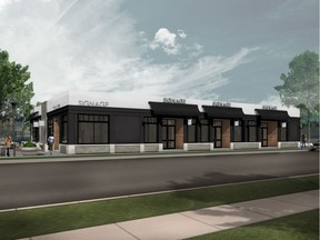 An artist's rendering of the building that used to house the Shop Easy Foods on Seventh Avenue in Saskatoon's City Park neighbourhood. The building was purchased for $1.5 million by two local physicians late last week, who are expected to spend upwards of $500,000 redeveloping it.