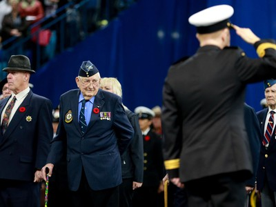 The annual Remembrance Day Ceremony at SaskTel Centre, the biggest indoor ceremony in Canada, November 11, 2016.