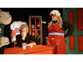 Kate Herriot and Blaine Hart in Monty Steals Christmas at Dancing Sky Theatre