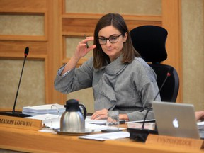 Mairin Loewen in city hall council chambers for budget talks, Wednesday, November 30, 2016. (GREG PENDER/STAR PHOENIX)