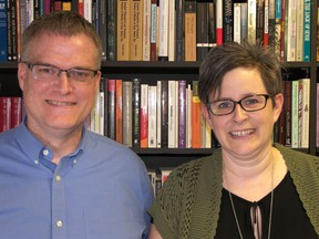 Dr. Darren Dahl, executive director of the Prairie Centre for Ecumenism, and Cathryn Wood, PCE program co-ordinator, have been instrumental in organizing Saskatoon's 2017 Week of Prayer for Christian Unity. Photo by Darlene Polachic