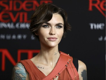 """Ruby Rose arrives at the world premiere of """"Resident Evil: The Final Chapter"""" at Regal L.A. Live, January 23, 2017, in Los Angeles, California."""