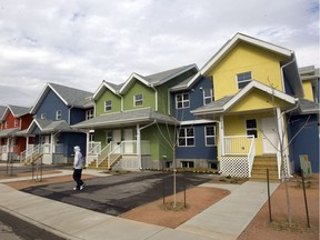 The City of Saskatoon is achieving its attainable housing goals as rent remains too high for many with low incomes. This 2009 photo shows affordable housing on Avenue L South. (GREG PENDER/The StarPhoenix)