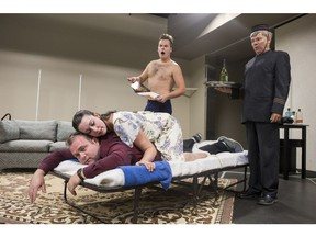 Mini Fridge Theatre Co. debuts it dinner theatre venture with the comedy Suitehearts. Starring Levi Thor Semenoff, Darren Zimmer, Becky Hendrickson and Larry Fitzgerald.