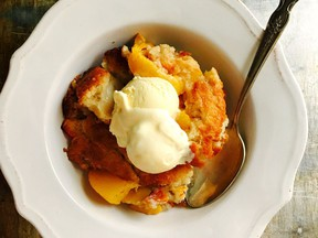 Ginger peach cobbler (Renee Kohlman photo)