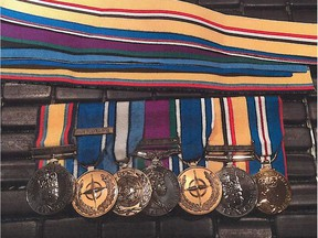 Nine medals were stolen from a home in Kindersley between Oct. 21 and Oct. 23. Uploaded Oct. 24, 2017. RCMP handout RCMP handout