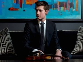 Violinist William Boan is performing with the Regina Symphony Orchestra on Jan. 20.