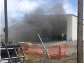 Members of the Saskatoon Fire Department contained a fire involving machinery and cardboard at the Loraas Recycling facility in Saskatoon in just over two hours. The fire broke out in the afternoon Monday, May 7, 2018.