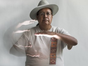 Lanny Real Bird, who lives on the Crow Reservation in southeast Montana, is one of the few experts in Plains Indian Sign Language. He visited the Saskatoon StarPhoenix newsroom on July 4, 2018, while he was en route to Poundmaker First Nation, where he will deliver a presentation on the language.