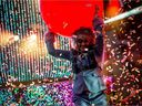 Wayne Coyne of the Flaming Lips got the 2018 jazz festival off to a colourful start. Matt Smith photo.