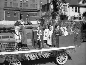 A photo from the Children's Day parade at the Saskatoon Exhibition, from July 19, 1954. (Provincial Archives of Saskatchewan StarPhoenix Collection S-SP-B3035-1)
