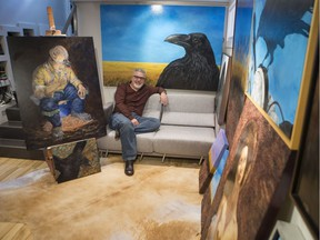 James Clow, a local artist who was recently featured at Birds in Art, at his home studio in Saskatoon, SK on Tuesday, October 2, 2018. Birds in Art is a top international exhibition of avian themed art which takes place yearly at the Leigh Yawkey Woodson Art Museum in Wausau, Wisconsin and features work from master wildlife artists including Robert Bateman.