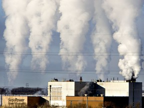 This Jan. 20, 2014 file photo shows Saskatoon's Queen Elizabeth Power Station operating on a cold day. New reports suggest Saskatoon city hall is struggling to reach its greenhouse gas emission reduction targets by 2023.