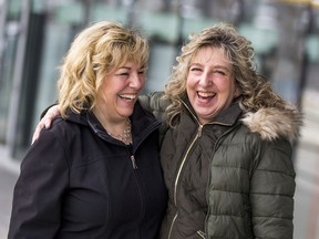Bonnie Cockrum, left, and Deb Leisle have formed a close friendship after Bonnie donated on of her kidneys to Deb in 2011 in Saskatoon, SK. on Wednesday, March 11, 2019.