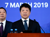 Huawei's rotating chairman Guo Ping speaks during a press conference in Shenzhen, China on March 7, 2019.