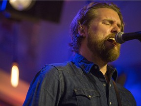 Ewan Currie of the Sheepdogs, performs at Village Guitar and Amp on Saturday, February 13th, 2016.