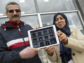 Malek Mouhoub, left, professor and department head Computer Science University of Regina, and Munira Al-Ageili, post-doctoral fellow in computer science at the University of Regina, worked on language app for phones and tablets to help Arabic-speaking refugees or recent immigrants learn english.