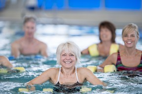 Aqua fitness classes are available outdoors at George Ward Pool, meaning you can get fit, have fun and enjoy the sun.