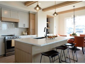 A bright open floor plan is both beautiful and function for a busy family in this show home by Lexis Homes at 315 Hamm Way. (Jennifer Jacoby-Smith/The StarPhoenix)