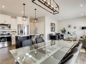 With an inviting open concept layout and nine-foot ceilings, the Camden show home is ideal for modern family living. Located at 310 Germain Manor in Brighton, the show home is of nine entries by North Ridge Development Corporation in the 2019 Parade of Homes. The show home features one of North Ridge's new floor plans and trim packages for 2019. Photo: Scott Prokop Photography