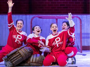 GLORY, the play about the early women's professional hockey team the Preston Rivulettes, runs at Persephone Theatre in Saskatoon from Sept. 25 to Oct. 12, 2019.