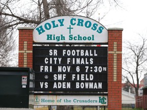 Holy Cross High School pictured on November 4, 2015.