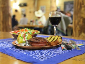 The steak supper meal at Saskatchewan's Historic Reesor Ranch is not to be missed if you're in southwestern Saskatchewan this summer. The bacon-wrapped top sirloin shown here was sourced from DeerView Meats, which buys from local ranchers.