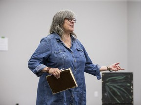 Yvette Nolan, director, during a rehearsal for the Ferre Play Theatre production of the play The Penelopiad in Saskatoon, Sept. 6, 2019.
