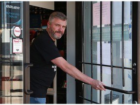 John Linklater, general manager of Al Anderson's Source for Sports, is planning to reopen Tuesday as part of the second phase of the province's reopen plan. Photo taken on May 14, 2020.