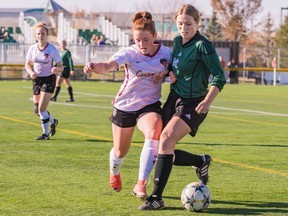 It remains uncertain how the high-school soccer season (including Holy Cross and Centennial, shown above) will play out this fall, but Saskatoon Youth Soccer hopes to get their own players on the pitch sometime this summer.