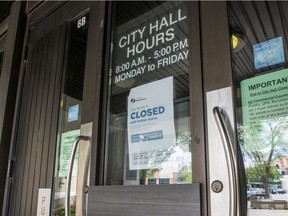 Saskatoon city hall, which has been closed since March, will reopen on Monday.