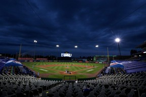 A general view of Sahlen Field during a game between the Toronto Blue Jays and the New York Yankees on September 7, 2020 in Buffalo, New York.