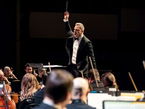 SSO conductor Eric Paetkau conducts during the Saskatoon Symphony Orchestra's concert featuring Gustav Holst's The Planets at TCU Place in Saskatoon on Oct. 19, 2019.