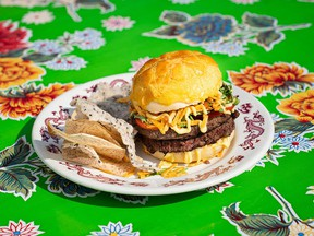Chef Craig Wong created the Impossible 'Pineapple' Bun Burger for his Toronto restaurant Patois.