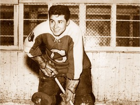 Fred Sasakamoose, shown during his junior days with the Moose Jaw Canucks.
