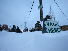The Saskatoon civic election went ahead as scheduled Monday despite the weekend blizzard.