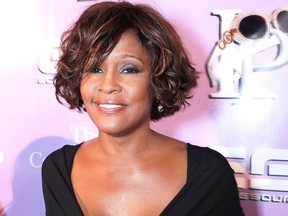 Whitney Houston arrives to the Kelly Price Friends Unplugged: For The Love Of RB GRAMMY Party at Tru Hollywood on February 9, 2012 in Hollywood.