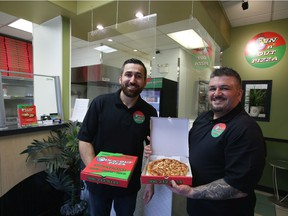 Sam Hermez (left) and Wisam Istifo are co-owners of In 'n Out Pizza, which recently relocated to Saskatoon from Martensville.