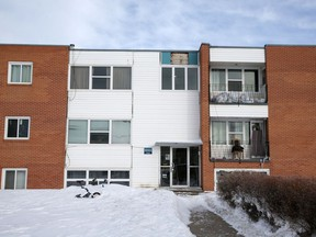 The building at 12 Bateman Crescent was evacuated for the day as crews worked to lower CO levels. Photo taken in Saskatoon on Friday, January 15, 2021.