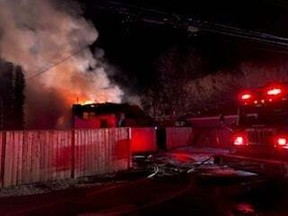 Saskatoon Fire Department responded to multiple fires in the wee hours of Sunday morning on the city's west side. (Saskatoon Fire Department photo/FACEBOOK)