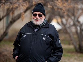 Michael PJ Kennedy, who taught a hockey in Canadian literature course for the department of English at the University of Saskatchewan, is a longtime hockey fan and supporter of the Huskies hockey programs. Photo taken in Saskatoon on Monday, April 19, 2021.