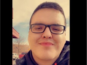 Braden Herman, 26, was found dead on Tuesday, May 11 in a wooded area. A Prince Albert RCMP officer, Bernie Herman -- who is not related to Braden -- has been charged with first-degree murder. Facebook photo.