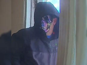 Kindersley RCMP say this man entered a bank in the village of Dodsland, Sask. armed with a gun on June 7, 2021.