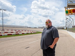 Neil Schneider is Manager of Marketing and Corporate Development at Wyant Group Raceway. Photo taken in Saskatoon, SK on Thursday, June 24, 2021.