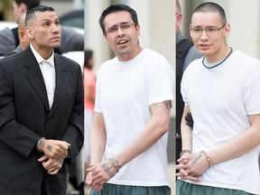 Dennis Thompson, left, Joshua Wilson and Johnathon Peepetch were found guilty of first-degree murder in the death of 54-year-old Shawn Douglas. The three men have been sentenced to imprisonment for life with no parole eligibility for 25 years.